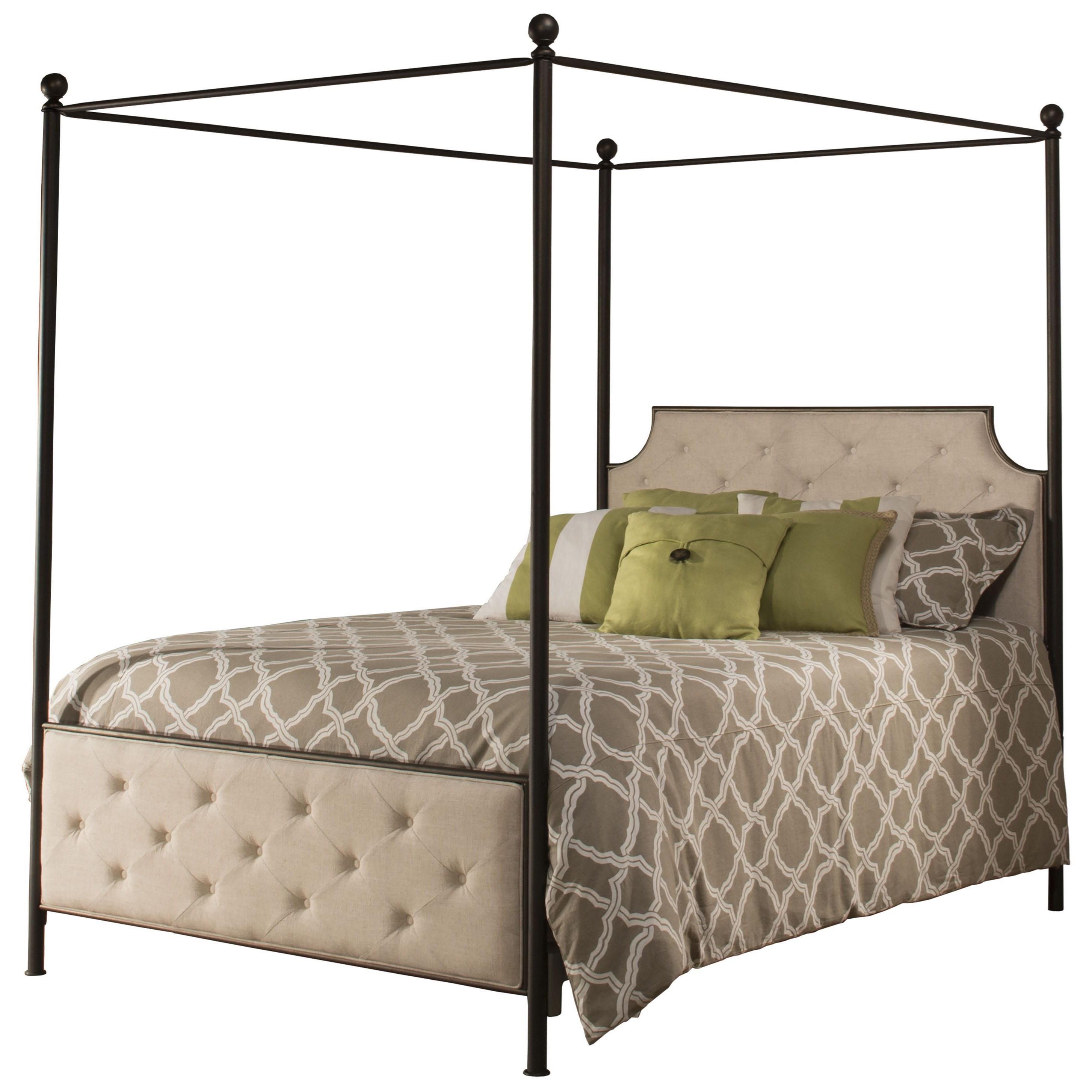 Hillsdale Metal Beds King Canopy Bed Set - Item Number: 1809BKCR