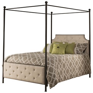 Morris Home Furnishings Metal Beds Queen Canopy Bed Set