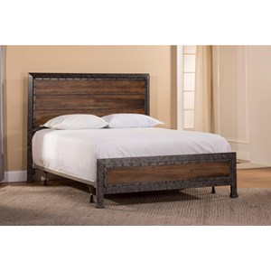 Morris Home Furnishings Metal Beds Queen Mackinac Bed Set