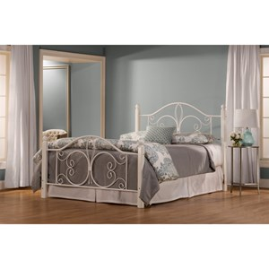 Morris Home Furnishings Metal Beds Queen Ruby Wood Post Bed Set