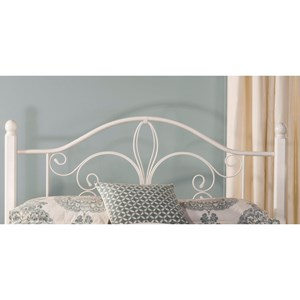Morris Home Furnishings Metal Beds Full/Queen Ruby Wood Post Headboard