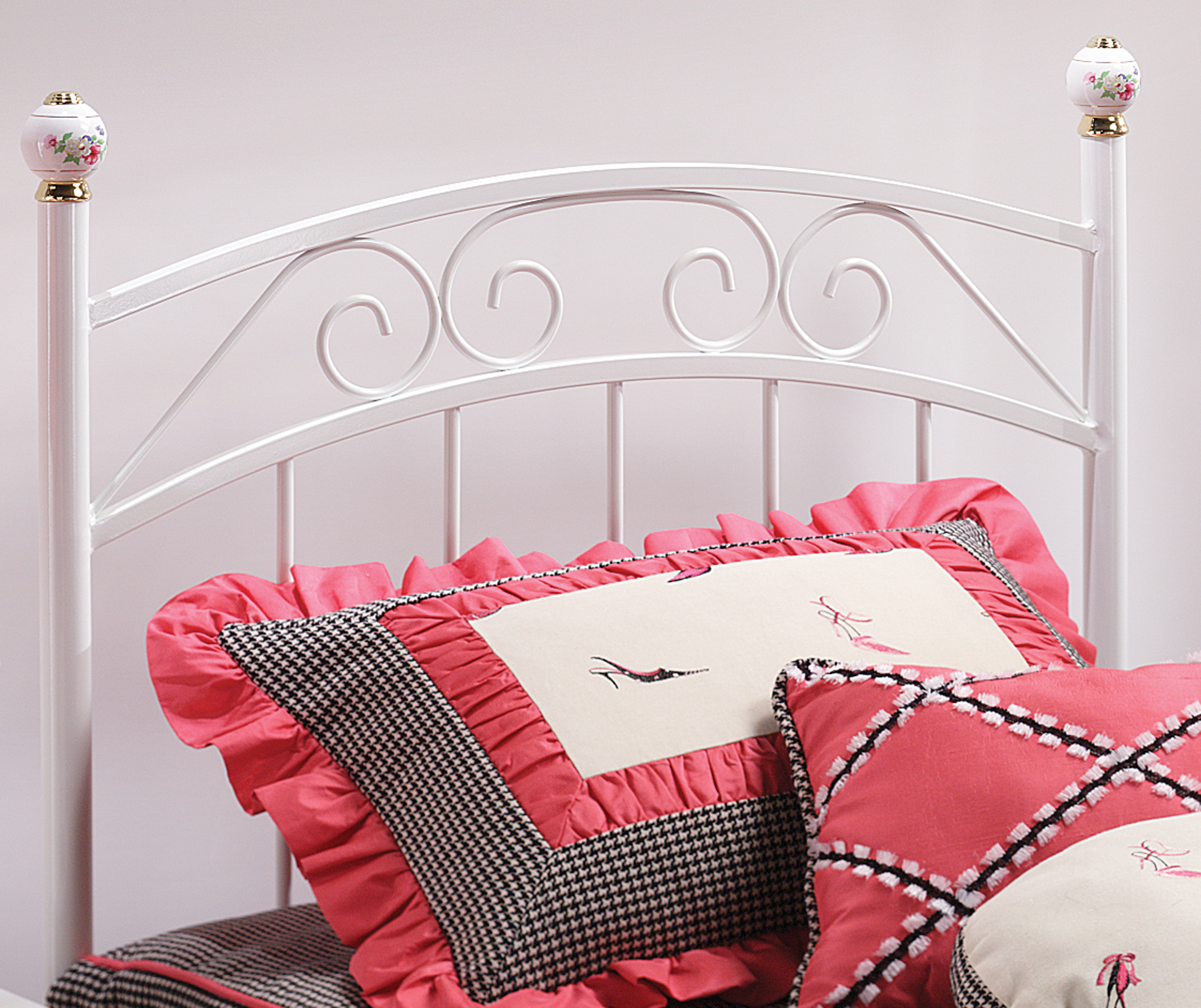 Hillsdale Metal Beds Emily Twin Headboard and Rails - Item Number: 1862HTWR