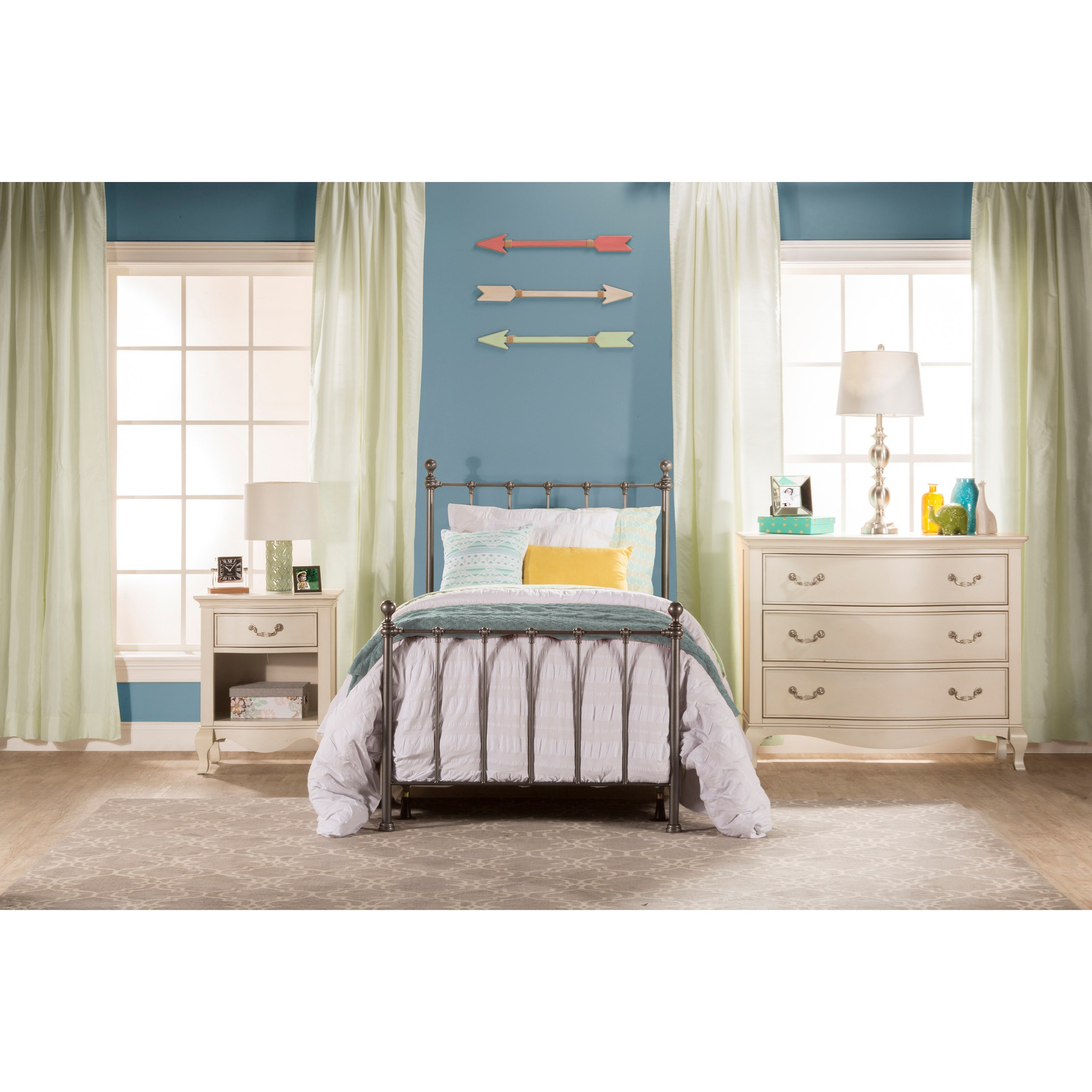 Hillsdale Metal Beds Twin Bed Set - Bed Frame Not Included ...