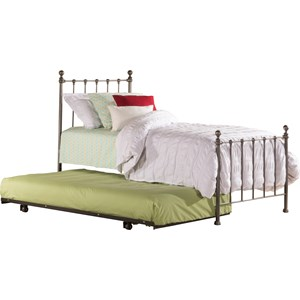 Morris Home Metal Beds Twin Bed with Trundle