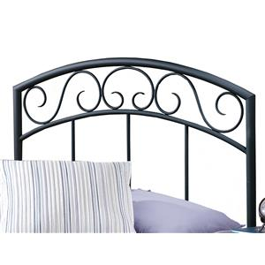 Morris Home Furnishings Metal Beds Wendell Twin Black Headboard
