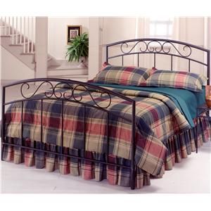 Morris Home Furnishings Metal Beds Queen Black Wendell Bed