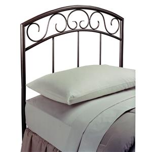Morris Home Furnishings Metal Beds Wendell Twin Copper Pebble Headboard