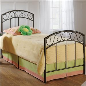Morris Home Furnishings Metal Beds Queen Copper Pebble Wendell Bed