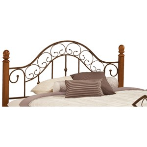 Morris Home Furnishings Metal Beds Full/Queen San Marco Headboard