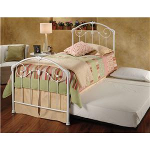 Morris Home Metal Beds Twin Maddie Bed with Roll-Out Trundle