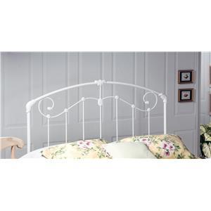 Morris Home Furnishings Metal Beds Maddie Twin Headboard with Rails