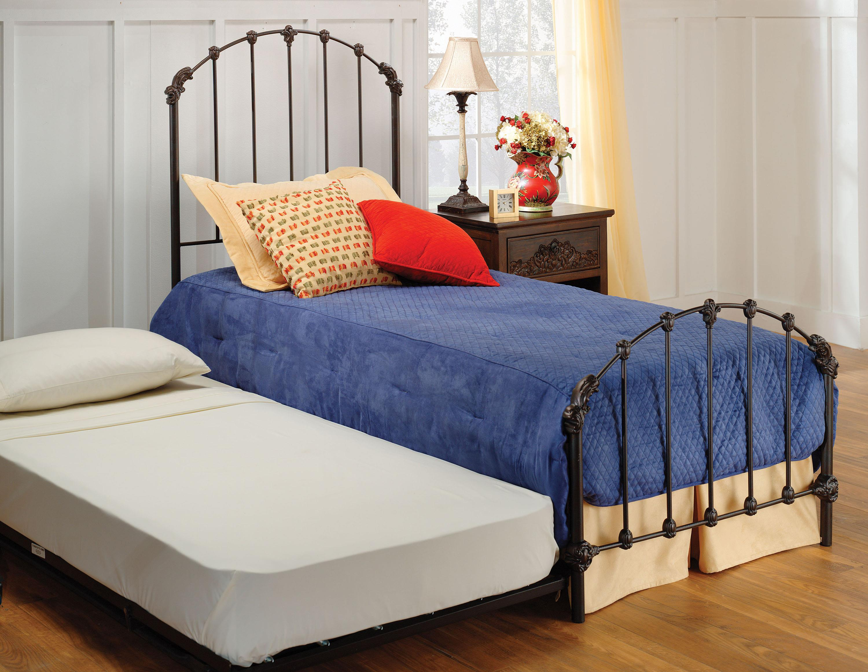 Hillsdale Metal Beds Bed Set - Twin - w/Rails and Trundle - Item Number: 346BTWHTR
