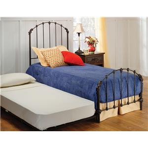 Morris Home Furnishings Metal Beds Bed Set - Twin - w/Rails and Trundle