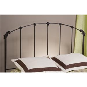 Morris Home Furnishings Metal Beds Bonita Twin Headboard with Rails