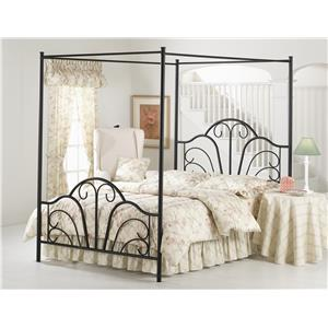 Hillsdale Metal Beds DOVER BED SET - QUEEN - W/CANOPY AND LEGS -