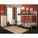 Hillsdale Brandi Simple Metal Twin/Twin Bunk Bed