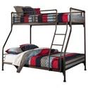 Hillsdale Brandi  Twin/Full Bunk Bed - Item Number: 2099BTF