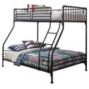Hillsdale Brandi Twin/Full Bunk Bed - Item Number: 2124BTF