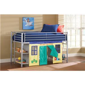 Hillsdale Brayden Junior Loft Bed with Cloth Doors