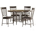 Hillsdale Brescello  Round Dining Table with Bluestone Top