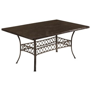 Morris Home Furnishings Brescello  Rectangle Dining Table