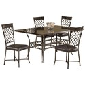 Morris Home Furnishings Brescello  5-Piece Rectangle Dining Set with Bluestone Table