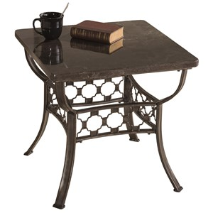 Morris Home Furnishings Brescello  Square End Table