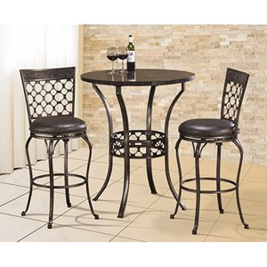 Hillsdale Brescello  3-Piece Bar Height Bistro Dining Set