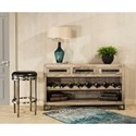 Hillsdale Bridgewater Black Wood With Metal Accents Sofa Table with Wine Rack