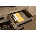 Hillsdale Bridgewater Tan With Metal Accents Sofa Table with Wine Rack