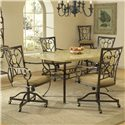 Hillsdale Brookside Oval Caster Dining Chair - 4815-804 - Shown with Rectangle Dining Table