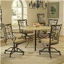 Hillsdale Brookside Oval Caster Dining Chair - 4815-804 - Shown with Round Dining Table