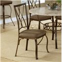 Morris Home Furnishings Brookside Diamond Fossil Back Dining Chair - Item Number: 4815-805