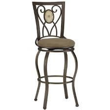 Hillsdale Brookside Oval Fossil Back Swivel Counter Stool