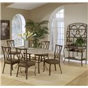 Hillsdale Brookside Seven Piece Rectangle Dining and Diamond Back Chair Set - Shown with Baker\'s Rack
