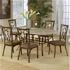 Morris Home Furnishings Brookside Seven Piece Dining Set