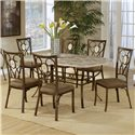 Hillsdale Brookside Seven Piece Dining Set - Item Number: 4815DTBCOV7