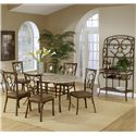 Hillsdale Brookside Seven Piece Rectangle Table and Oval Back Chair Dining Set - Shown with Baker\'s Rack