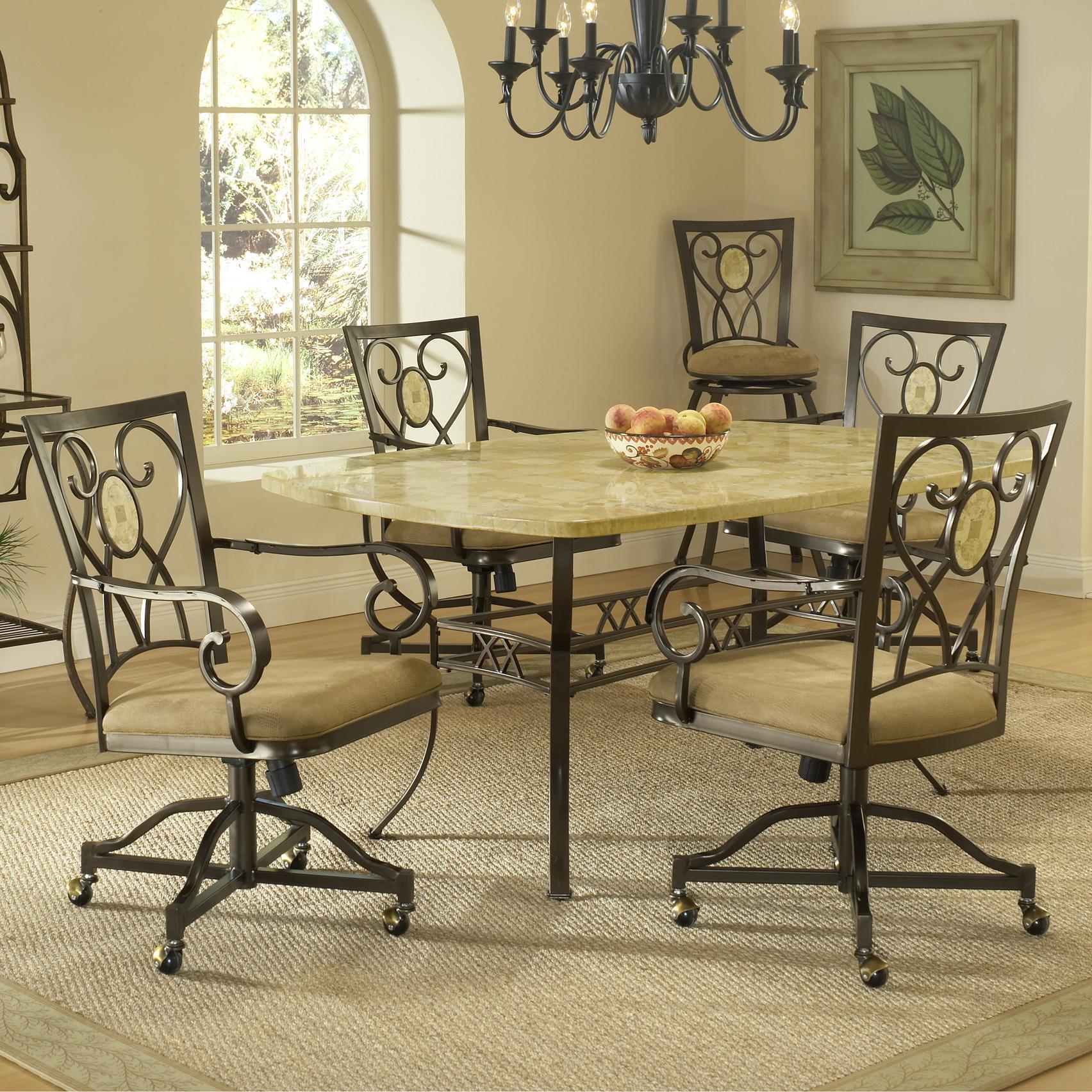 Hillsdale Brookside Five Piece Rectangle Dining Set - Item Number: 4815DTBCOVC