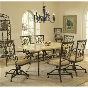 Hillsdale Brookside Seven Piece Rectangle Dining Set
