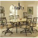 Hillsdale Brookside Seven Piece Rectangle Dining Set - Item Number: 4815DTBCOVC7