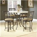 Hillsdale Brookside Five Piece Counter Height Dining Set - Item Number: 4815DTBSGDM