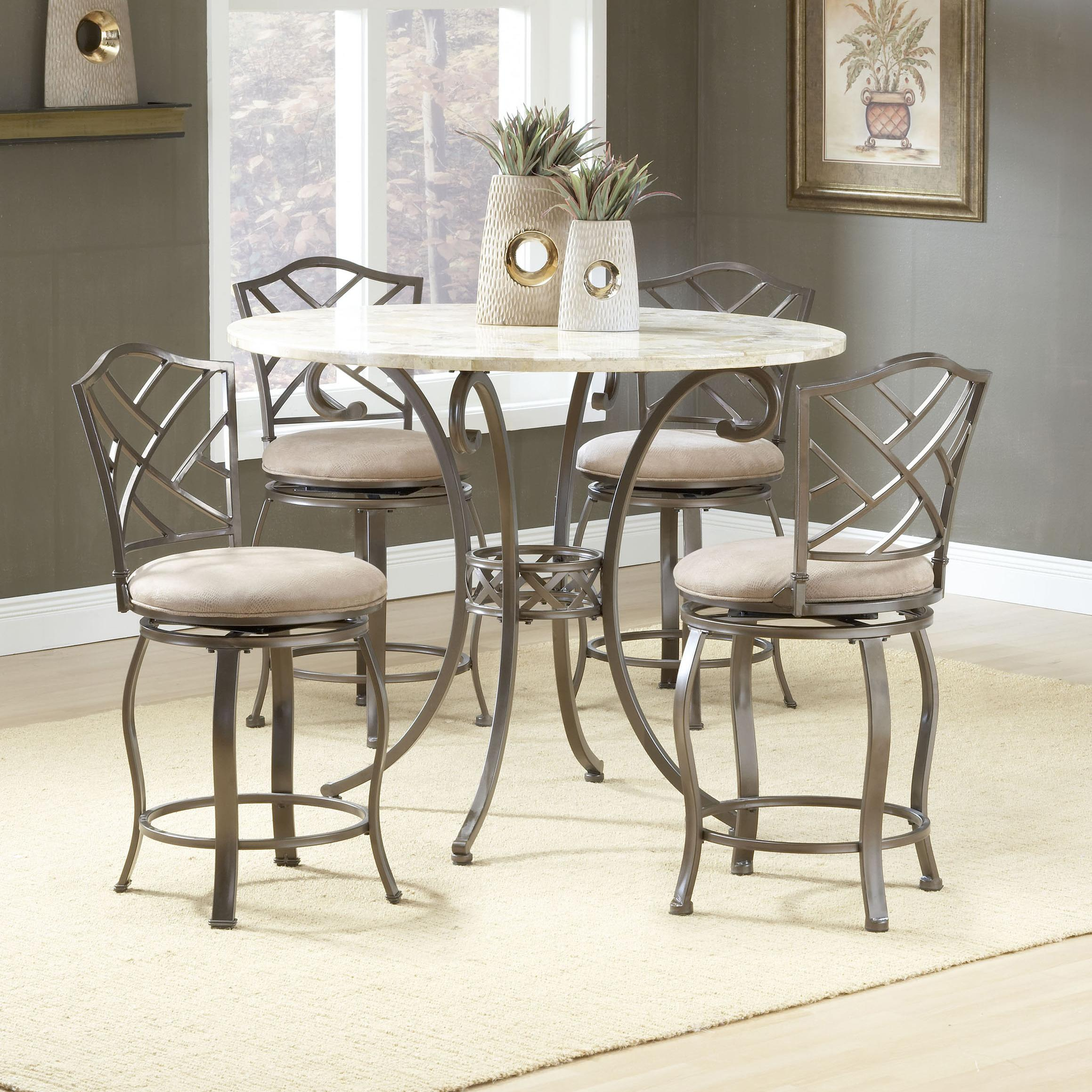 Hillsdale Brookside Five Piece Counter Height Dining Set   Item Number:  4815DTBSGHR