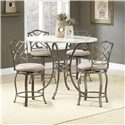 Morris Home Furnishings Brookside Five Piece Counter Height Dining Set - Item Number: 4815DTBSGHR