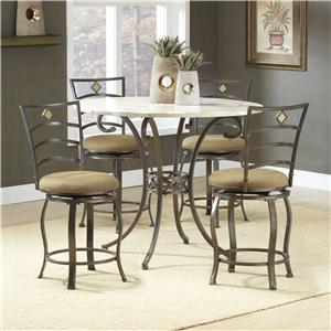 Morris Home Furnishings Brookside Five Piece Counter Height Dining Set