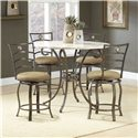 Hillsdale Brookside Five Piece Counter Height Dining Set - Item Number: 4815DTBSGMN