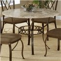 Hillsdale Brookside Round Dining Table - Item Number: 4815DTRNB