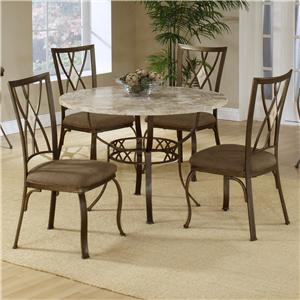 Morris Home Furnishings Brookside Five Piece Round Dining Set