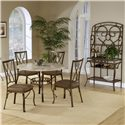 Hillsdale Brookside Five Piece Round Dining Set with Diamond Back Chairs - Shown with Baker\'s Rack