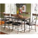 Hillsdale Cameron X-Back Dining Side Chair - Shown with Rectangular Dining Table